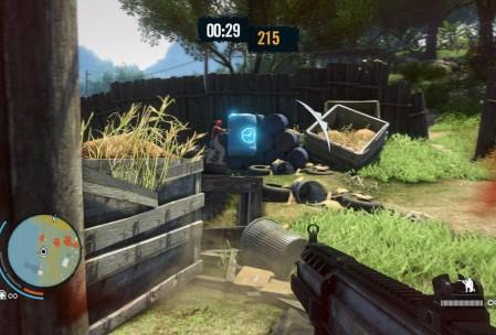 Очередная мини-игра. На этот раз нужно убить из определенного оружия как можно больше врагов за отведенное время. Запас можно пополнять, стреляя по синим бочкам, а сами убийства можно проводить красиво – например, за хедшот дают больше очков.