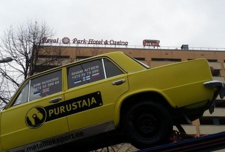 Следы русской культуры в Таллинне видны на каждом шагу (а через месяц этот отель-казино снесли нафиг).