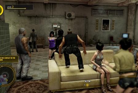 На базе можно заценить вечную вечеринку. Прямо как в Saints Row.