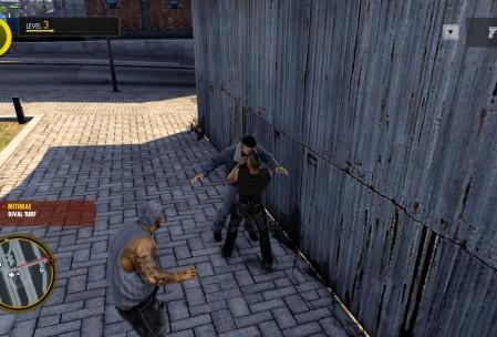 Самое дебильное и короткое подзадание: догони и прыгни на бандита.
