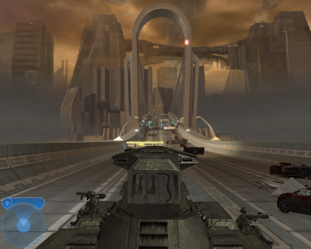 294303-halo-2-windows-screenshot-driving-a-tank-through-the-bridge