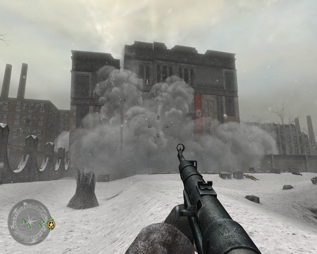 137979-call-of-duty-2-windows-screenshot-blowing-up-german-headquarters